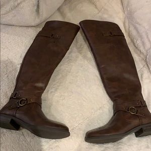 Guess over the knee boots size 8